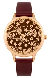 Oasis Ladies Red Strap Watch Red