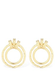 Attico Bronze Multi Hoop Earrings Gold