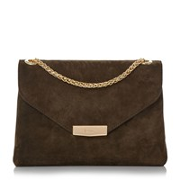 Dune Eddison Chain Handle Bag Khaki