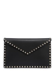 Valentino Garavani Rockstuds Leather Pouch Black