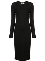 Prabal Gurung Long Sleeve Knit Dress Black