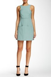 Orla Kiely Windowpane Print Sleeveless Dress Green