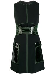 David Koma Cut Out Mini Dress Black