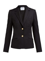 Pallas X Claire Thomson Jonville Eton Crest Embroidered Wool Blazer Black