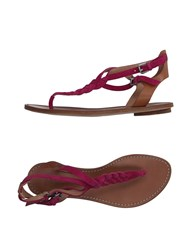 Belle By Sigerson Morrison Toe Strap Sandals Fuchsia