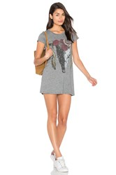 Lauren Moshi Lana T Shirt Dress Gray