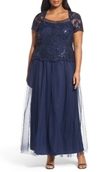 Brianna Plus Size Women's Sequin Bodice Gown
