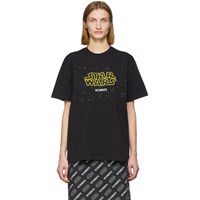 Vetements Black Star Wars Edition Episodes T Shirt