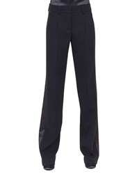 Akris Miranda Wide Leg Tuxedo Pants Black