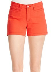 Jessica Simpson Solid Uptown Shorts Poppy Red