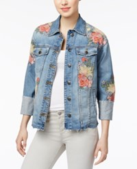 Joe's Jeans The Belize Floral Embroidered Denim Jacket Sasha