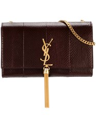 Saint Laurent Medium 'Monogram Kate' Shoulder Bag Pink And Purple