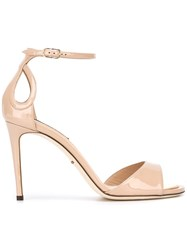 Dolce And Gabbana Keira Sandals Nude Neutrals