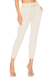 James Perse Contrast Sweatpant Ivory