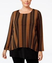 Alfani Plus Size Flyaway Back Chevron Print Top Only At Macy's Mod Lines Sienna