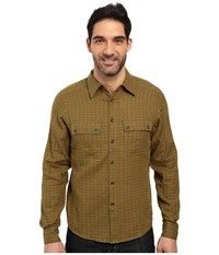 Nau Shadow Box Long Sleeve Shirt Frond Plaid Long Sleeve Button Up Tan