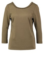 Vila Vibraided Long Sleeved Top Ivy Green Khaki