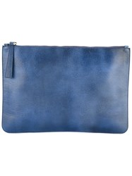 Orciani Zipped Clutch Blue
