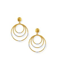 Gurhan 22K Gold Delicate Geo Round Drop Earrings W Diamonds