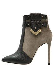 Elisabetta Franchi High Heeled Ankle Boots Nero Militare Black