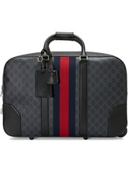 Gucci Soft Gg Supreme Carry On Duffle With Wheels Black