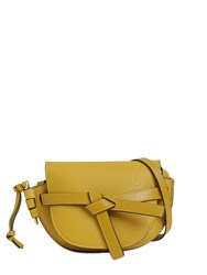Loewe Gate Mini Grained Leather Bag Ochre