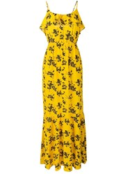 Michael Michael Kors Floral Print Dress Yellow