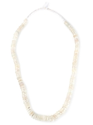Dosa 'Dutch' Trading Bead Necklace White