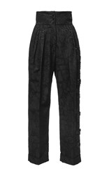 Antonio Marras High Waisted Brocade Pants Black