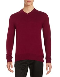 Black Brown V Neck Sweater Red Heahter