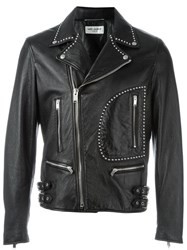 Saint Laurent Studded Biker Jacket Black