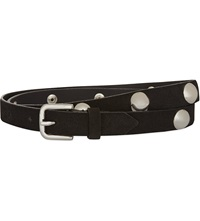 Sandro Studded Skinny Leather Belt Black