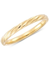 Signature Gold Ribbed Hinged Bangle Bracelet In 14K Over Resin Created For Macy's Gold