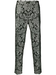 Dolce And Gabbana Embroidered Brocade Tailored Trousers 60