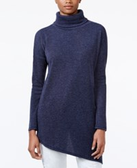 Rachel Roy Asymmetrical Turtleneck Tunic Navy