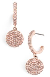 Kate Spade Women's New York Shine On Pave Drop Earrings Rose Clear