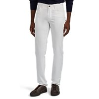 Brioni Cotton Twill Jeans White