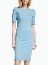 Boden Emma Ponte Dress Heron Blue