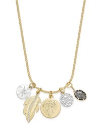 Macy's Inspired Life Two Tone Multi Charm Pendant Necklace Two Tone