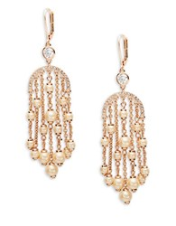 Kate Spade Pearls Of Wisdom Chandelier Earrings Pink