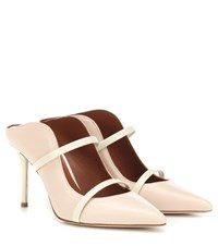 Malone Souliers Maureen 85 Leather Mules Pink
