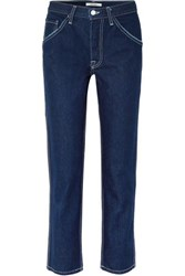 Grlfrnd Janice High Rise Straight Leg Jeans Dark Denim