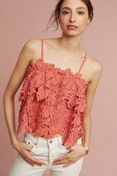 Anthropologie Cory Lace Cami Coral