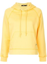 Obey Logo Embroidered Hoodie Pink
