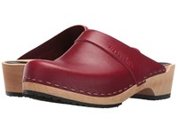 Swedish Hasbeens Husband Wine Red Women's Clog Shoes
