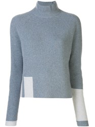 Duffy Cashmere Ribbed Funnel Neck Jumper 60
