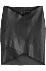 Jitrois Leather Panel Mini Skirt