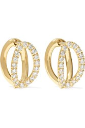 Melissa Kaye Mila Small 18 Karat Gold Diamond Earrings One Size