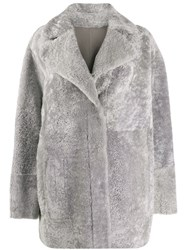 Drome Reversible Double Breasted Coat Grey