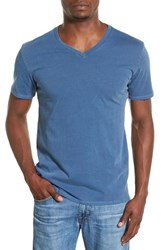 Original Paperbacks Men's 'South Sea' V Neck T Shirt Tidepool